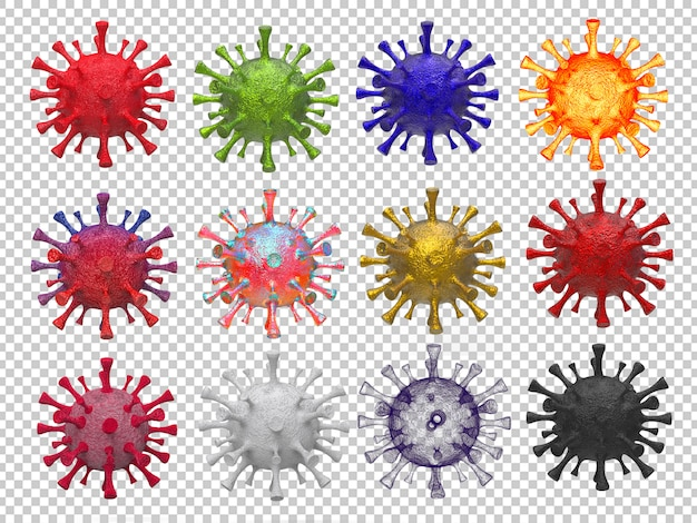 Wiedergabe 3d der koronavirusansammlung