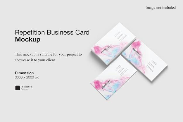 Wiederholung visitenkarte mockup design rendering