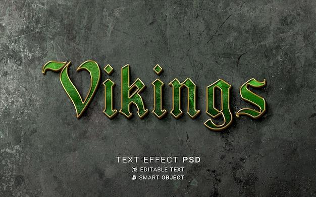 Wikinger-design mit texteffekt