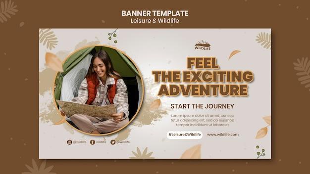Wildlife adventure banner vorlage