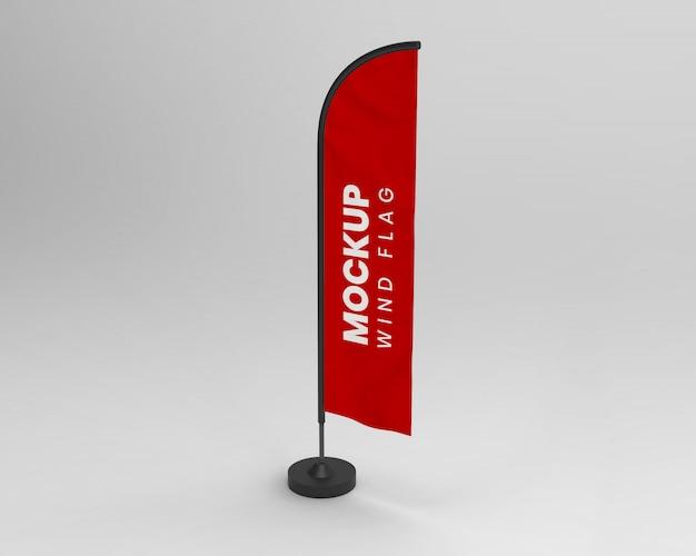 Wind flag mockup