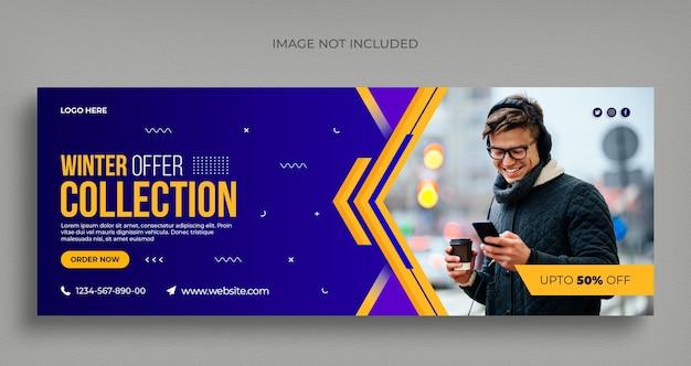 Winter mode verkauf social media web banner flyer und facebook cover vorlage