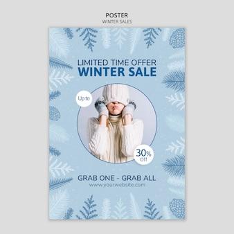 Winterschlussverkauf mit begrenzter zeit