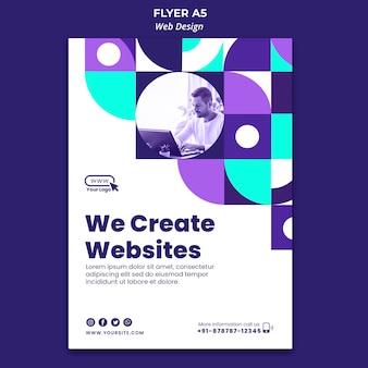 Wir erstellen flyer-vorlagen für websites
