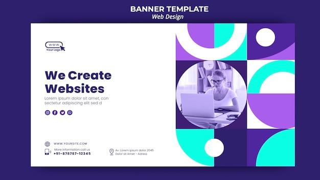 Wir erstellen website-banner-vorlage