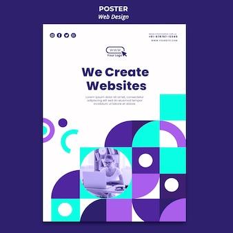 Wir erstellen websites poster vorlage