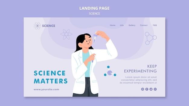 Wissenschaft zählt landingpage-vorlage