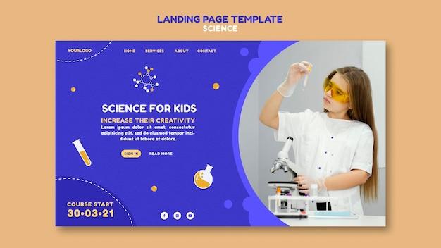 Wissenschafts-landingpage