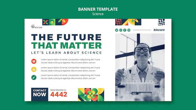 Wissenschaftsbanner-vorlagendesign