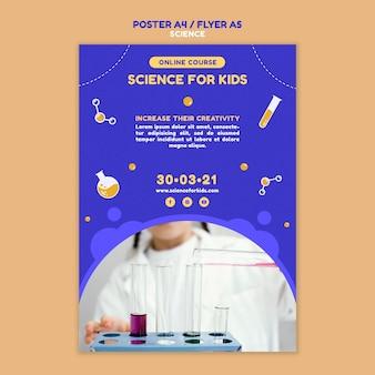 Wissenschaftsplakatschablone