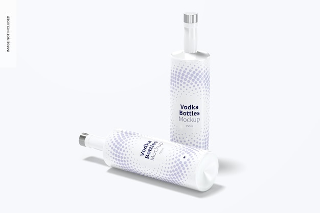 Wodka bottles mockup