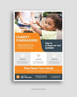 Wohltätigkeitsflyer