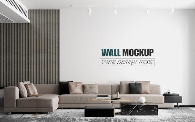 Wohnzimmer hat ein modernes sofa wandmodell
