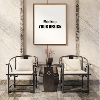 Wohnzimmer interieur haus boden vorlage hintergrund mock-up design kopie raum 3d-rendering
