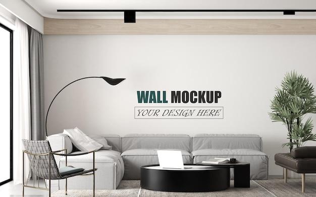Wohnzimmer mit modernem designstil wandmodell