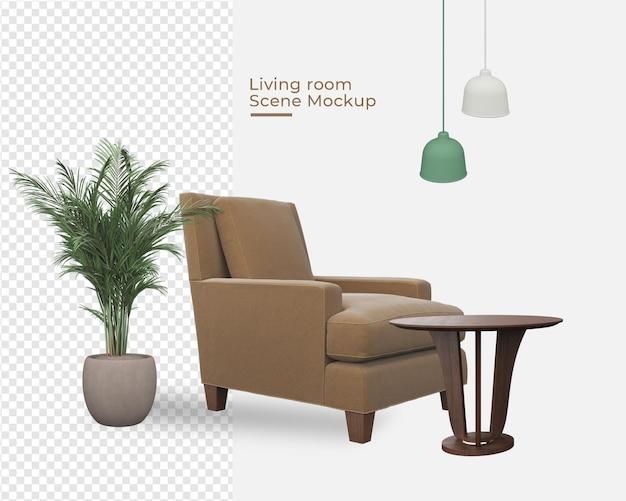 Wohnzimmer szenen mockup dekoration designs