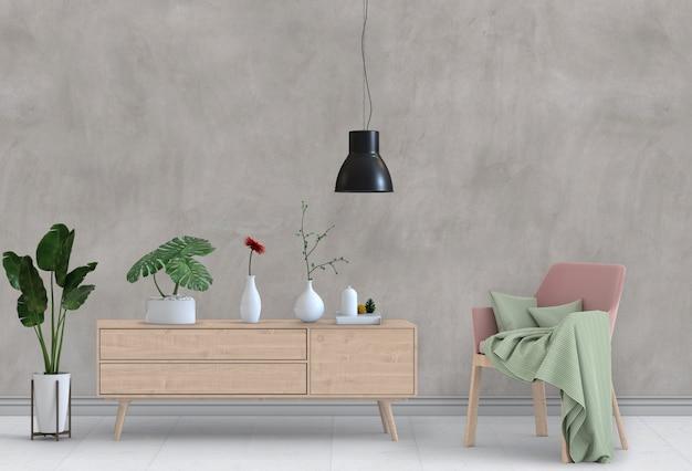Wohnzimmerinnenraum im modernen stil