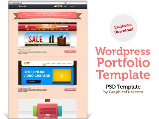 Wordpress portfolio psd-vorlage