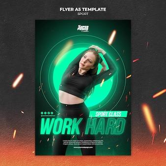 Work hard sport flyer vorlage