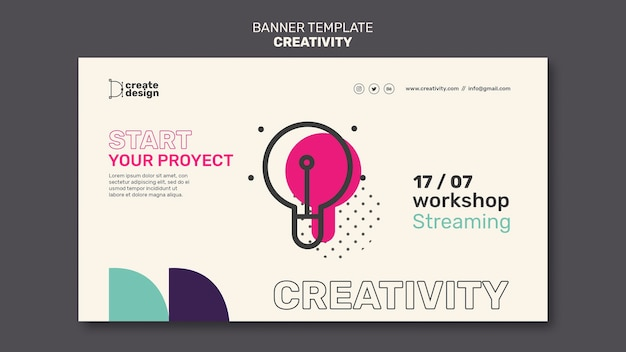 Workshop streaming banner vorlage