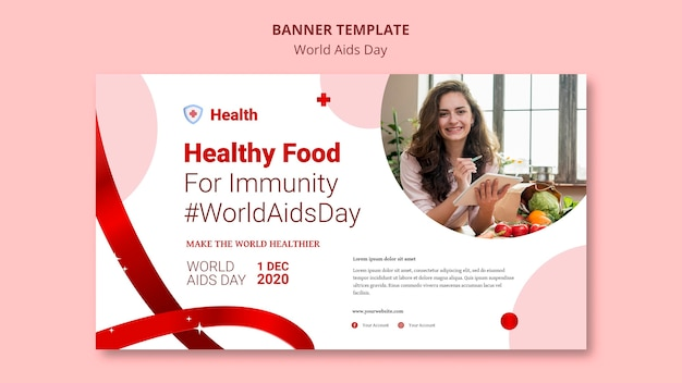 World aids day banner vorlage