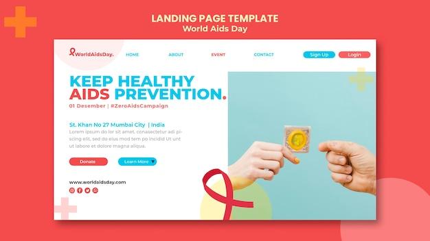 World aids day landing page vorlage