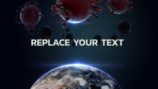 World corona virus 3d-rendering-design