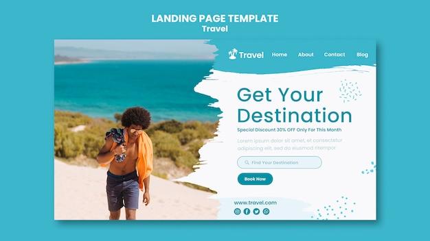 World exploration landing page vorlage