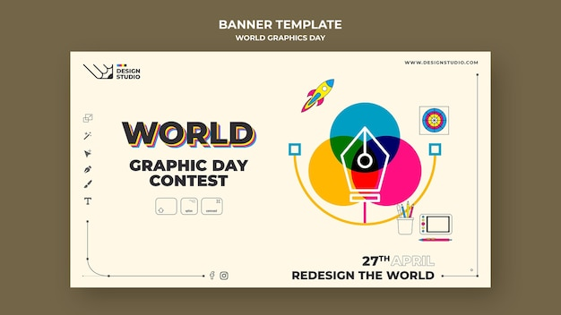World graphics day banner vorlage