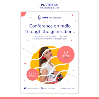 World radio day poster vorlage