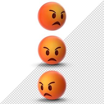 Wütendes 3d-emoji