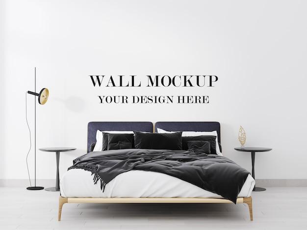 Wunderbar stilvolles modernes schlafzimmerwandhintergrund-3d-modell