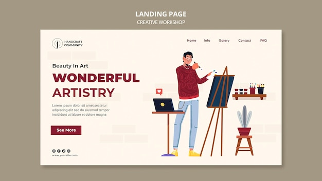 Wunderbare artistik-landingpage