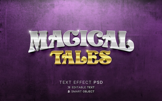 Wunderschöner magischer märchentexteffekt