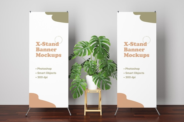 X-stand banner mockup Premium PSD