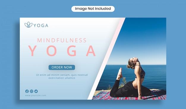 Yoga banner vorlage