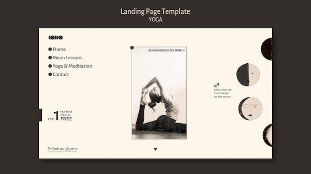 Yoga farbloses design landing page