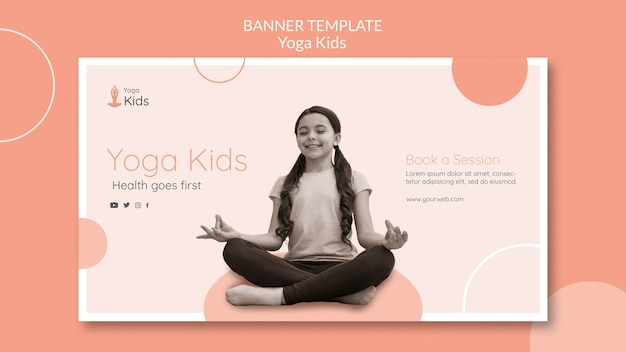 Yoga konzept banner vorlage