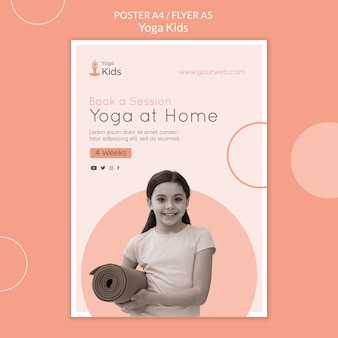 Yoga konzept flyer vorlage