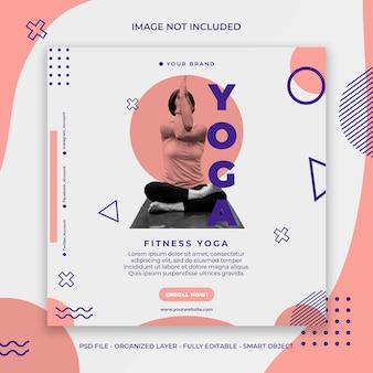 Yoga post banner oder vorlage premium