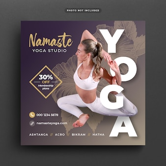 Yoga post banner oder vorlage