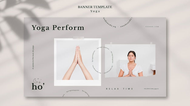 Yoga-thema für banner