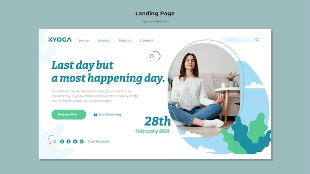 Yoga und meditation landing page
