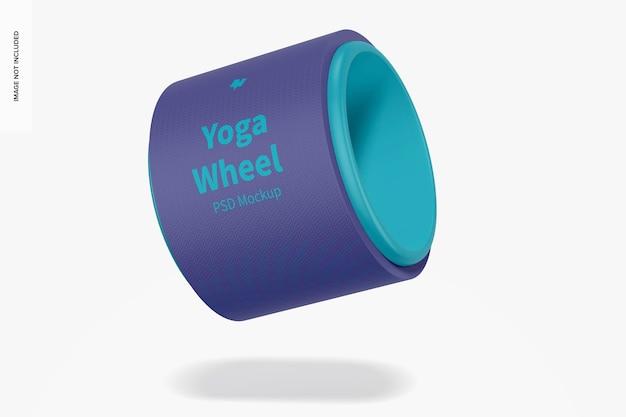 Yoga wheel mockup, schwimmend
