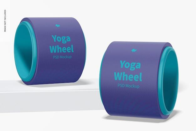 Yoga wheels mockup