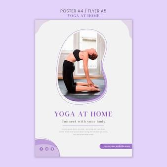 Yoga zu hause flyer vorlage