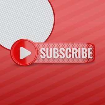 Youtube-abonnieren 3d
