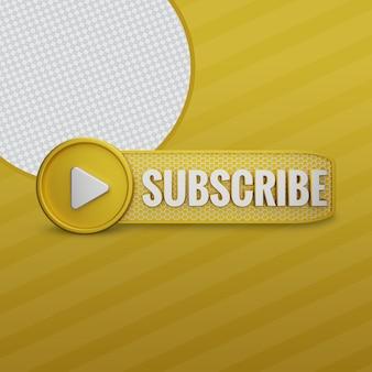 Youtube-abonnieren golden 3d