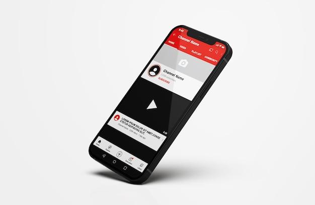 Youtube auf handy mockup