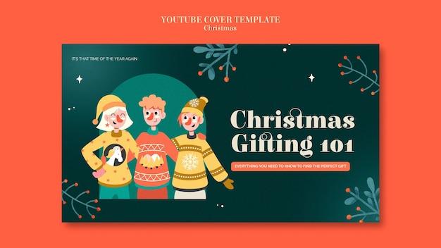 Youtube-cover-vorlage für die festliche pullover-saison